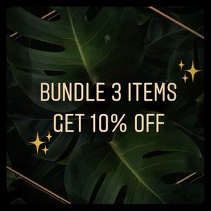 Bundle 3 items and get 10% off